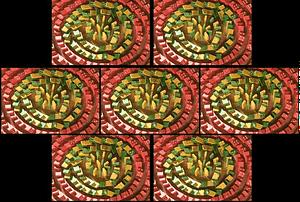 dominos in circles